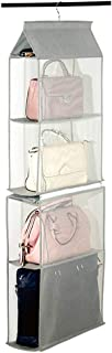 Compartment Organizer Pouch Hanging Handbag Organizer Purse Bag Collection Storage Holder Wardrobe Closet Space Saving Organizers System for Living Room Bedroom Home Use