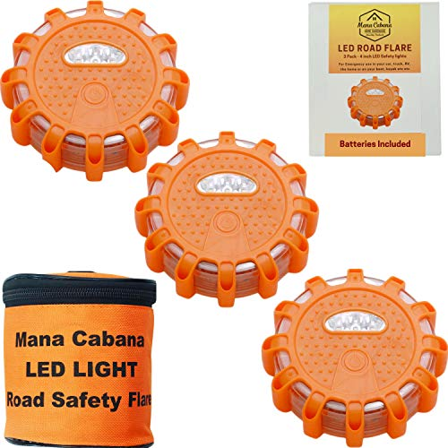 Mana Cabana LED Road Flares and Emergency Light Roadside Safety Disc