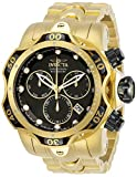 Invicta Men's Venom Quartz Watch with Stainless Steel Strap, Gold, 26 (Model: 29642)