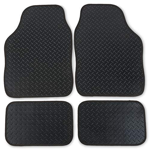 Safe Travel 27850 Tapis de voiture universels en caoutchouc très résistant avec bordure noire