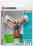 Nécessaire de Dérivation en Y pour Arrosage 13 mm (1/2')/15 mm (5/8') de Gardena: Raccord de Dérivation pour une Distribution Simple (18287-20)