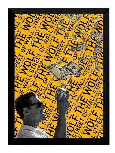 Quadro Lobo De Wall Street Filme Poster Arte Moldurada