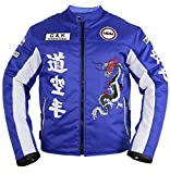 Herren Motorrad Textil Jacke in blau