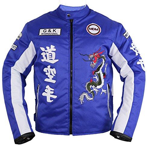 MDM Herren Motorrad Textil Jacke in blau