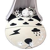 Li Li Na Shop Nordic Cartoon Runde Spiel pad Cute Tierform Matte Wohnzimmer abnehmbaren Teppich Baby Spiel Krabbeldecke Freizeit Siesta Matratze (Size : 150cm(59 inches))