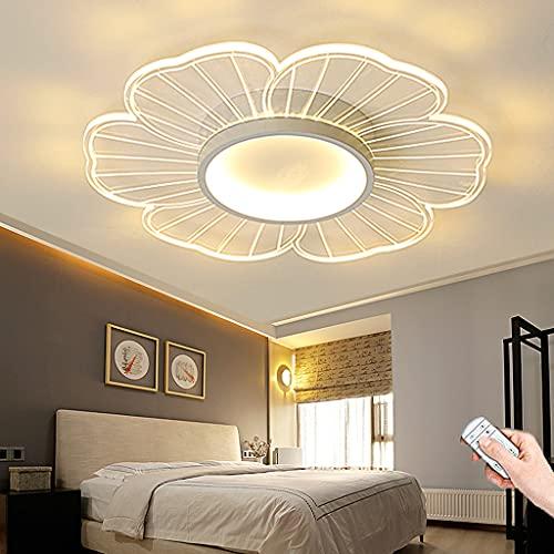 LED Luz De Techo Regulable Con Control Remoto Lámpara De Techo Pantalla De Acrílico Moderna Lámpara Colgante Oficina Habitación De Niños Dormitorio Sala De Estar Comedor Cocina Iluminación (52CM)