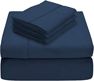 5 Piece 1800 Collection Deep Pocket Bed Sheet Set - Twin Extra Long - Ultra-Soft Hypoallergenic - 2 Extra Pillowcases (Twin XL, Dark Blue)