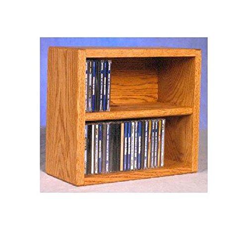 14.25 in. Desktop CD Storage (Honey Oak)
