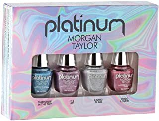 Morgan Taylor Nail Lacquer - Platinum Collection - Mini 4 pk Set - 5 mL / 0.17 oz