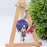 FUXIANG Llavero de Anime 5 cm Figura Tokyo Ghoul: Re Cadenas de Llaves Llavero de Doble Cara Llavero Colgante Anime Accesorios de Dibujos Animados Llavero Regalo