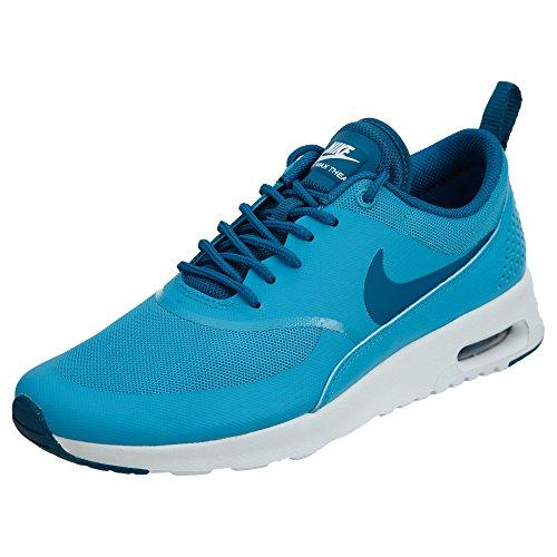 Nike Mädchen WMNS Air Max Thea Fitnessschuhe, Blau Blau Lagune Grün Abgrund Weiß, 35.5 EU
