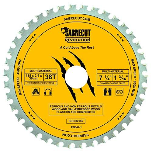 SabreCut SCCSM185_38 - Hoja de sierra circular para Bosch Dewalt Makita Milwaukee y...