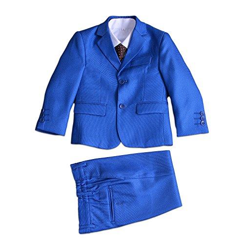 Cinda 5 Stück Boy Anzüge Hochzeit Anzug Junge Seite Partei-Abschlussball brilliantes Blau 92-98