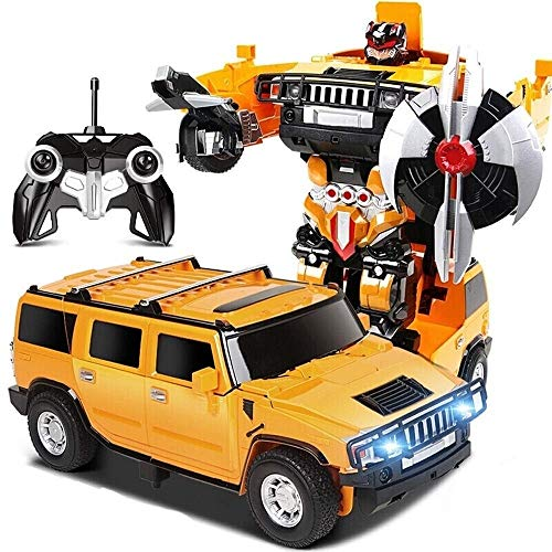 Discover Bargain Woote Kids RC Deformation Transforming Robot Car Remote Control One Button Deformed...