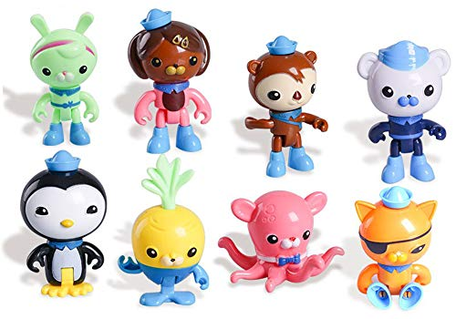 8 Pack Octonauts Cake Topper Figures Play Set 2' - 3' Peso Kwazii Captain Barnacles