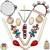 SCHMETTERLINE® Musikinstrumente-Set für Kinder aus Holz - 15 TLG. Musik-Spielzeug mit Premium Rhythmus-Instrumenten ab 3 Jahre für eine begeisternde musikalische Rhythmus-Früherziehung