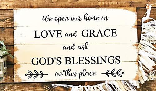 Free Brand Holzschild, christliches Schild, christliche Dekoration, Bibelvers, Hochzeitsgeschenk, Verlobungsgeschenk.
