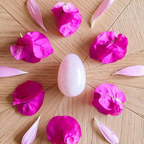 Oeuf en Quartz Rose - grand - troué