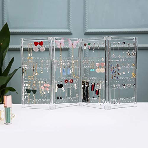 MUY New Clear Plastics Earring Storage Doors Design Nice Jewelry Hanging Holder Rack Acrylics Jewelry Display Stand Earrings for women Easter