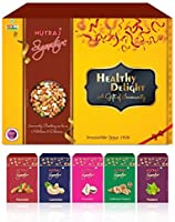Nutraj Healthy Delights Dry Fruits Gift Combo Pack 1Kg (Almonds Plain 200g, California Walnuts 200g, R&S Pistachios...