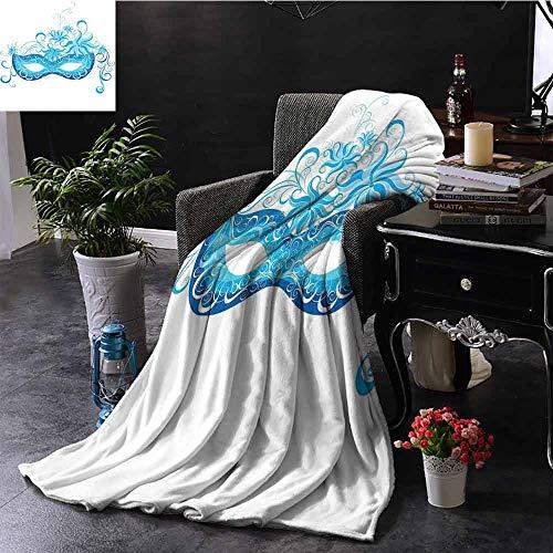 GGACEN Bank Deken Party Masker Mid-Eeuw Vermomming Nacht Kostuum Event Illustratie Print Deken voor Bank Bank Bank TV Bed Alle Seizoen