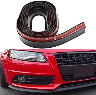 Guance Black Front Bumper Lip Stickon Car Body Kit Bumper Lip Side Skirt Rubber Edge Decorative Protector Trim for Volkswagen Vento (Pack of 1 Pcs)