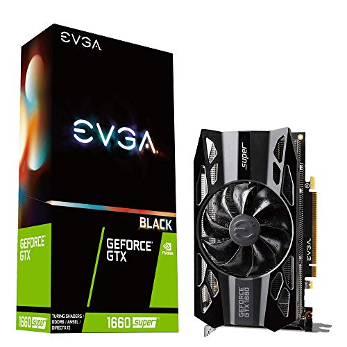 Price comparison product image EVGA GeForce GTX 1660 SUPER BLACK GAMING,  06G-P4-1061-KR,  6GB GDDR6