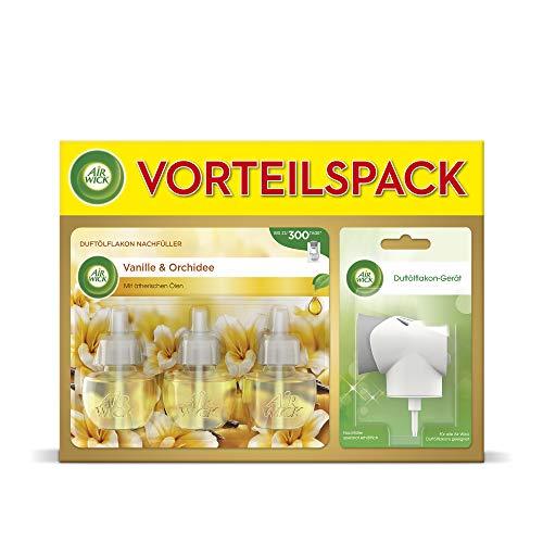 Air Wick Duftölflakon Vorteilspack, Duftstecker inkl. 3 Nachfüller Vanille & Orchidee (3 x 19ml)