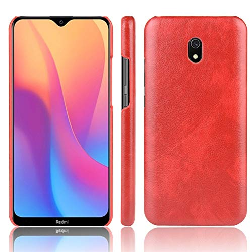 Liluyao Funda telefónica para Xiaomi para el Caso de Xiaomi redmi 8A a Prueba de Golpes Litchi Textura PC PU (Color : Red)