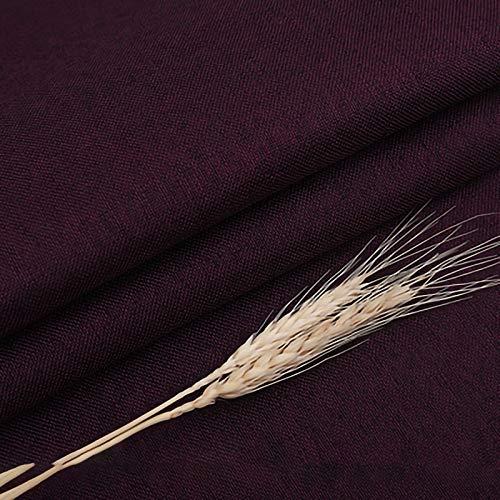 ZXC Cubierta Mantel 148 cm de Ancho Mantel Cuadrado De Mesa De Mesa Cuadrada PequeñA para Hogar Cocina Cena Navidad Comedor Vendido por 1 m(Color:Violeta Oscuro)