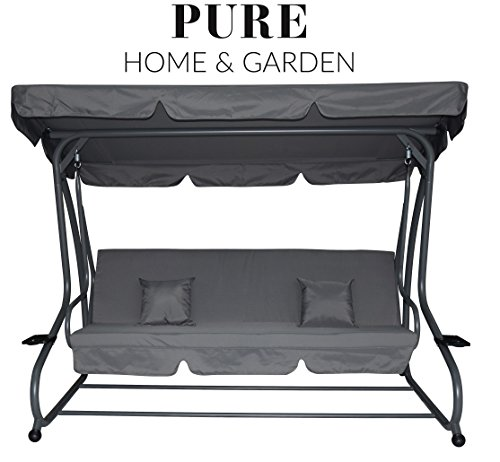 Pure Home & Garden 4-Sitzer XXL Hollywoodschaukel...
