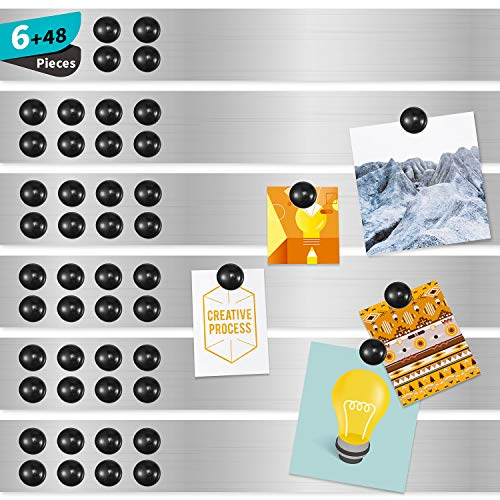 Magnetic Board Magnetic Strips with Adhesive Backing Magnetic Strips Adhesive Magnetic Strip for Wall Memo Board with Pushpins for School Office and Home (6)