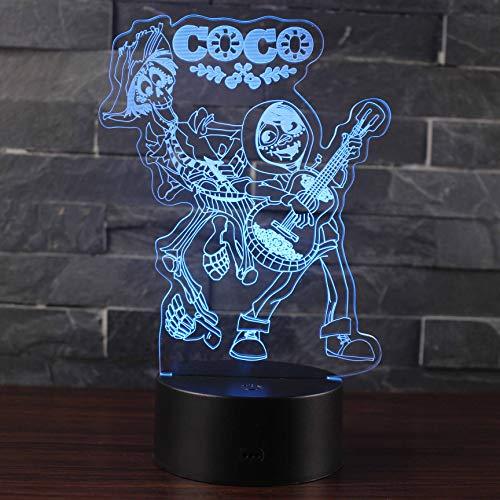 Optische illusie nachtlampje LED 7 kleuren bedlampje touch lamp slaapkamer tafel decoratie voor kinderen
