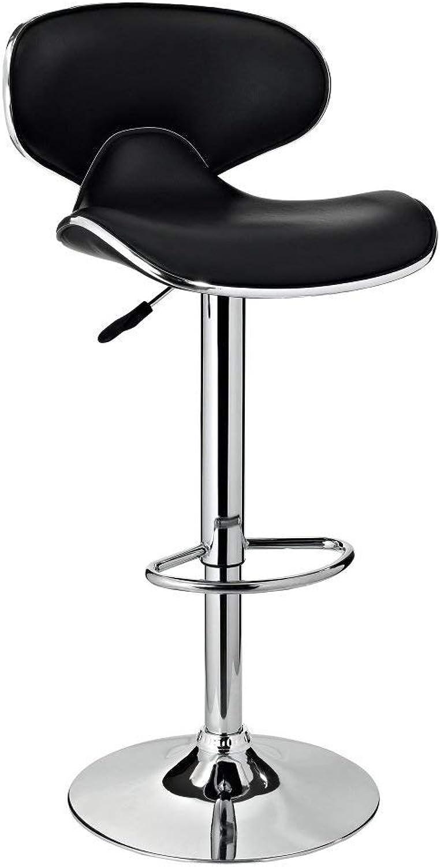 Powell Furniture PU Barstool, Chrome Black