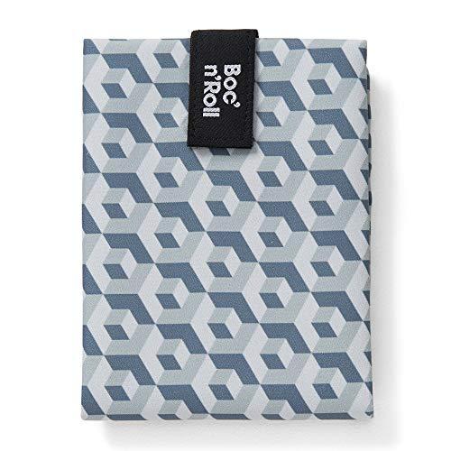 Roll'eat - Boc'n'Roll Tiles | Bolsa Merienda Porta Bocadillos, Envoltorio Reutilizable y Ecológico sin BPA, Negro