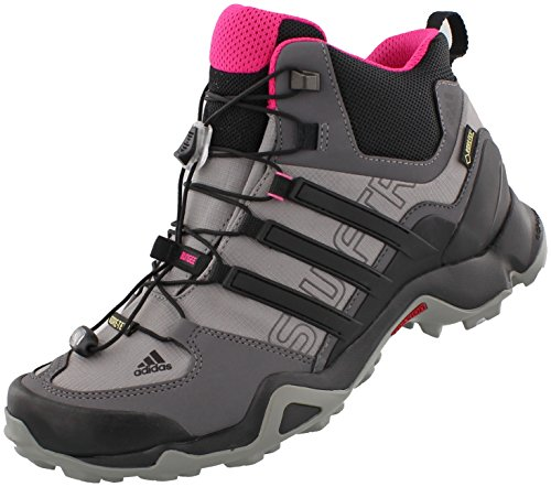 adidas Outdoor Terrex Swift R Mid GTX Hiking Boot - Women's Shock Pink/Granite/Black 5