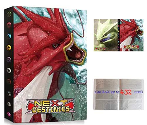 Álbumes Compatible con Cartas Pokemon, Carpeta Compatible con Cartas de Pokémon, Álbum Titular Compatible con Cartas Pokémon, 24 páginas con capacidad para 432 cartas (SG-Gyarados)