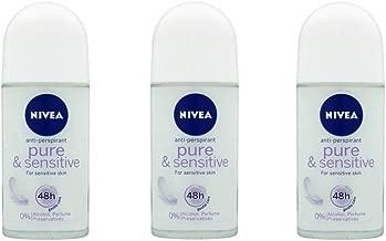 nivea sensitive and pure roll on