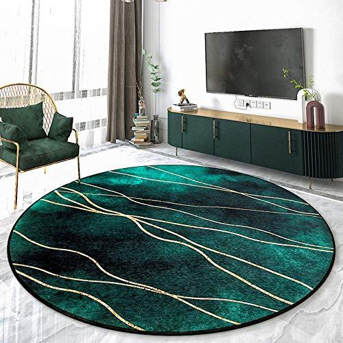 Z-DJJ Ultra Rugs - Alfombra redonda suave y esponjosa lavable a máquina para sala de estar, dormitorio, sofá, guardería, antideslizante, no se desprende (100/120/140/160 cm), 120 x 120 cm