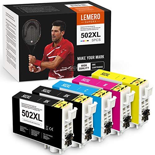 5 LEMERO SUPERX kompatibel für Epson 502XL 502 XL Multipack Druckerpatronen für Epson Workforce WF-2860DWF WF-2865DWF Expression Home XP-5100 XP-5105 Drucker
