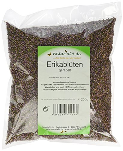 Naturix24 Erikablüten, Heidekrautblüten gerebelt – Beutel, 1er Pack (1 x 250 g)