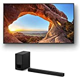 Sony KD85X85J 85' 4K High Definition Resolution LED-Backlit LCD Smart TV with a Sony HT-S350 2.1 Channel Home Theater Soundbar Wireless System (2021)