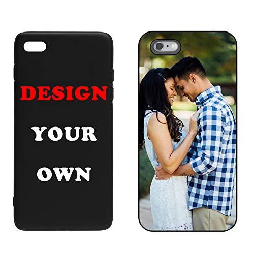 Naispanda Coque pour iPhone 6S - Coque Téléphone Personnalisée, Personnalisable avec Votre Propre Image au Choix Case pour iPhone Bordure TPU+Dos Glass Design