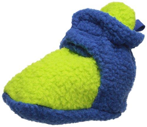 Luvable Friends Unisex Baby Fleece Booties, Lime Blue, 12-18 Months