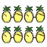 4Pcs Ananas Gläser Dekorative Ananas-Form-Sonnenbrille Party Brille Tropical Sonnenbrillen für...