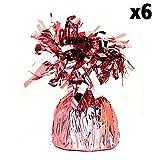 Unique Party Folien Tassel Ballon Gewicht (6 Stück) (Einheitsgröße) (Pink)