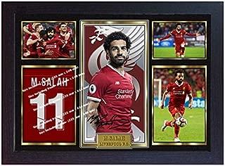 S&E DESING MO Salah Liverpool Print Photo Poster Signed Mohamed Salah Framed Size(13 in x 10 in