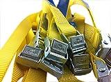 Befestigungsriemen-Set ideal zur Befestigung am Fahrradträger , Klemschloss Gurte , Spanngurte , iapyx (10er Set, gelb)