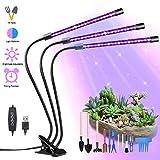 Lámpara de Plantas, Yokunat 60 LED Luz de la Planta Iluminación 27W con 15 Herramientas de Jardinería, 3 Modos de Lluminación, 5 Niveles Regulables, Rotación de 360° y Función de Temporizador