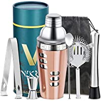 Set de coctelería Accesorios de coctelería Set de coctelera profesional con jigger colador Muddler y cuchara - 6pcs